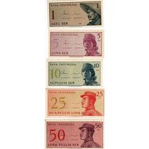 8 Billetes De Indonesia Año 1964 A 2009 Sin Circular Oferta
