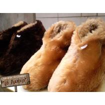 Pantuflas Tipo Botas De Peluche Y Cordero -la Pulpería