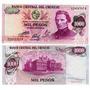 Billete Uruguay 1.000 Pesos Año 1974 Sin Circular
