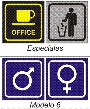 Carteles para puertas ba os oficinas consultorios - Carteles para banos ...