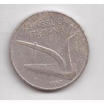 Italia Moneda De 10 Liras Año 1953 !!!!
