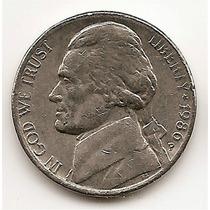 Moneda Estados Unidos De 5 Centavos Five Cents Año1986 P