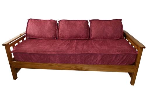 Divan cama estilo oriental con carricama lustrado en for Divan cama de una plaza