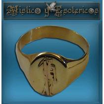 San La Muerte Anillo En Oro Macizo Modelo 05