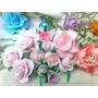Flores De Porcelana Para Decorar Tortas Y Cajas