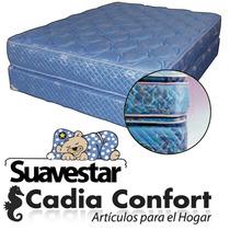 Conjunto Colchon Y Sommier Suavestar Bluestar 140x190 Pillow