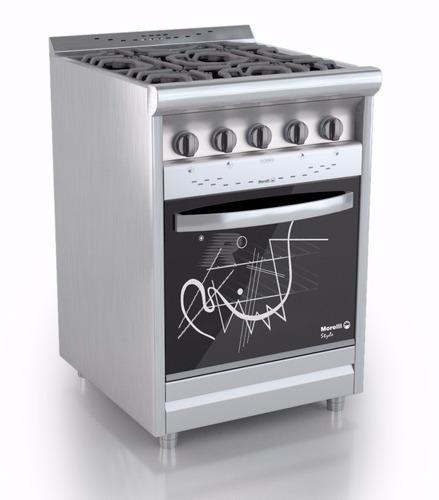 Cocina morelli 550 style inox encendido vitrificada c - Cocinas murelli ...