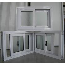 Ventana De Aluminio Blanco 0,60 X 0,40 Mts Vidrio Entero