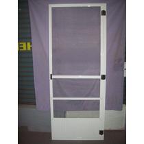 Puerta Mosquitero 0.80x2.00 De Aluminio Blanco