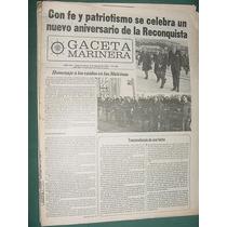 Diario Gaceta Marinera Guerra Malvinas Falklands 489 Patria