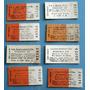 8 Boletos Tren Carton Sin Uso F.c.sarmiento Vendo Lote