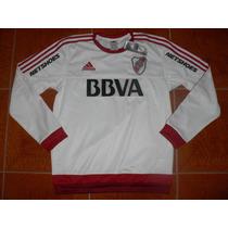 Buzo Adidas River Plate Blanco 2016 (con Publicidades)