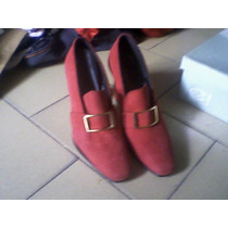 Zapatos Rojos De Gamuza