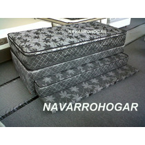 Colchon Y Cama Carro Doble 90x190.conjunto Space Sealy Divan