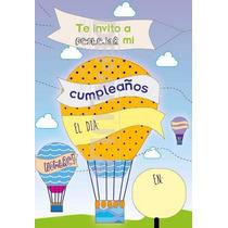 Tarjeta Invitación Cumpleaños Infantil Globo Original!