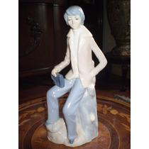 Figura De Muchacho De Porcelana Calidad Lladro (j)