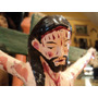 Antiguo Cristo Cruz Criollo Madera Arte Sacro Popular