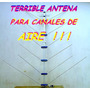 Analógica Tv Television Canales De Aire 14 Elementos Vhf Nva
