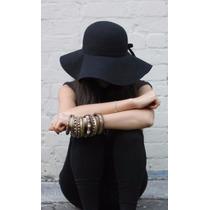 Capelina Fieltro Sombrero Mujer Otoño Tendencia