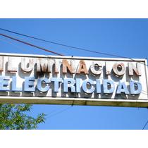 Cartel Iluminacion-electricidad