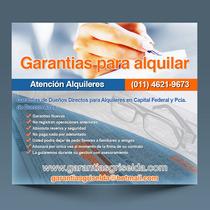 Garantes ! Para Alquileres En Todo El Gran Buenos Aires !