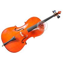 Violoncello Ancona Cg106 Macizo Cello 4/4 Funda Arco Resina