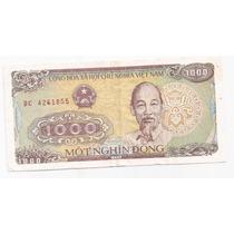 Billete Vietnam 1000 Dong Año 1988 Pick S 106 !!!