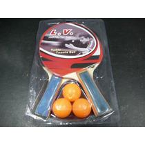 Paletas De Ping Pong Con 3 Pelotitas,en Set