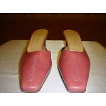 Lady Stork Zapato Stilletto Sin Talon Nro 37 Cuero Rosa