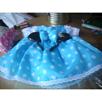Vestidito Nena. Disfraz Minnie Color Turqueza Y Minnie Rosa