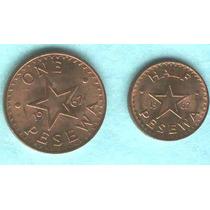Serie De 2 Monedas De Ghana Sin Circular