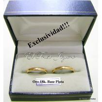 Par Alianzas Oro18k. /plata 925 Exclusivas Grabadas Garantia