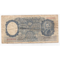 500 Pesos Moneda Nacional Bottero 2097 Billete Escaso !!