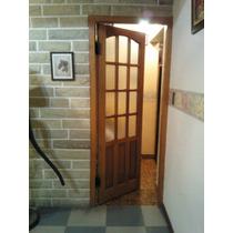 Puerta De Madera Medio Vidrio 70x200 M/madera Extra Porch