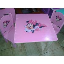Mesa Y 2 Sillas Infantiles Zou Cars Rapunzel Dia Del Niño