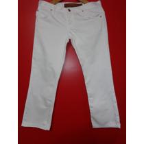 Akiabara Pantalon Capri T 26-30 Jeans Blanco