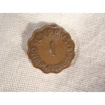 Chipre - 1 Piastre - 1944 - Antigua Y Hermosa Moneda
