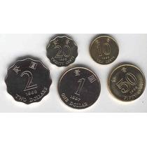 Serie De 5 Monedas De Hong Kong Sin Circular
