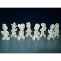 Muñecas De Adorno En Porcelana Trajes Típicos Set X8 Países