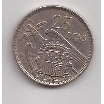 España Moneda 25 Pesetas Año 1957 Estrella 58 !!!