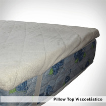 Pillow Top Viscolastico De 4cm Espesor. Desmontable 80x190cm