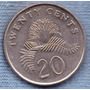 Singapur 20 Cent 1996 * Planta Plumerillo *