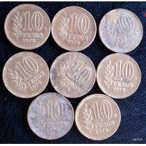 10 Pesos 1976 Se Vende Lote De 8 Monedas