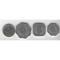 Serie De 4 Monedas De Caribe Del Este Sin Circular