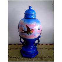 Antiguo Ánfora Potich Florero En Porcelana Inglesa Sellado