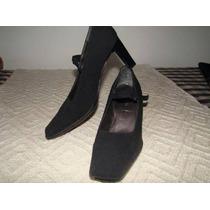 Zapatos Stilettos Talle 37 Negro Pulsera En Tobillo