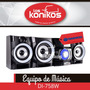 Equipo Musica Daewoo Audio Bluetooth Karaoke Usb Dvd Radio