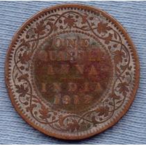 India 1/4 Anna 1912 * Colonia Inglesa *george V *