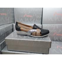 Zapatillas Mujer Cuero Anny Zapatos Base Goma Forro Porcino