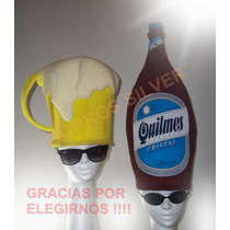 Gorros De Goma Espuma Cotillon / Combo Botella+chop